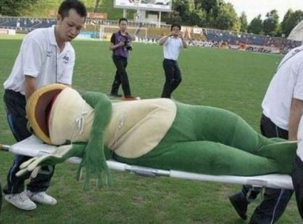 frog man down
