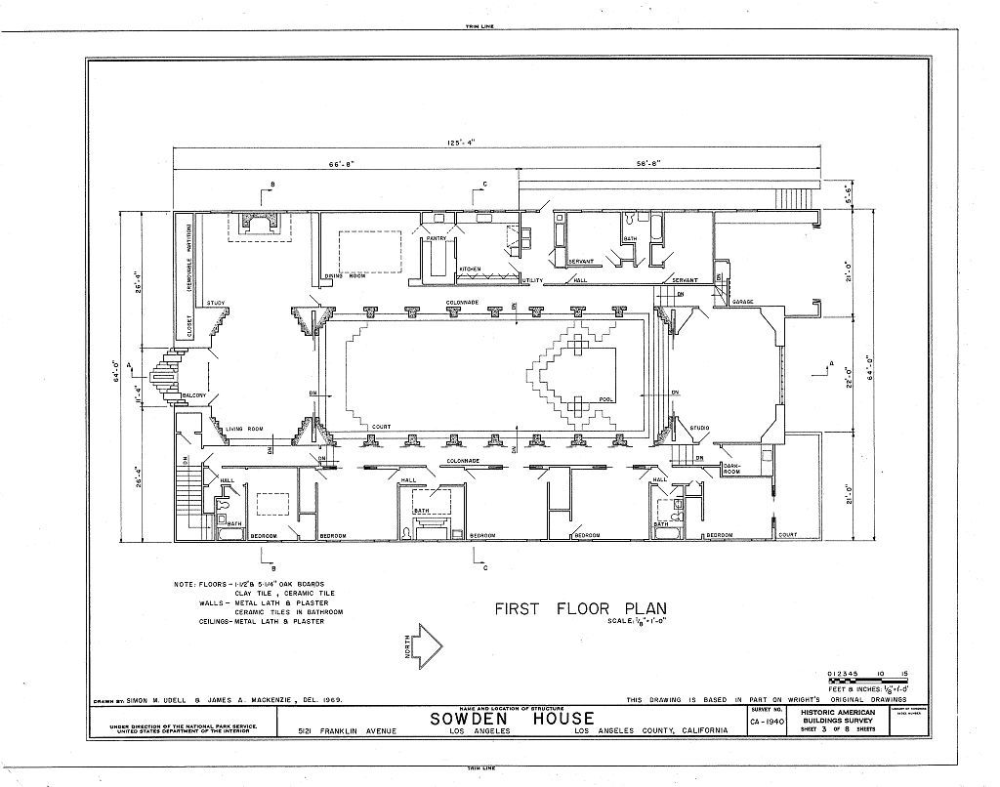 Sowden House In L A Floor Plan Frank Lloyd Right Poshuk Google In 2020 Floor Plans How To Plan Blueprints