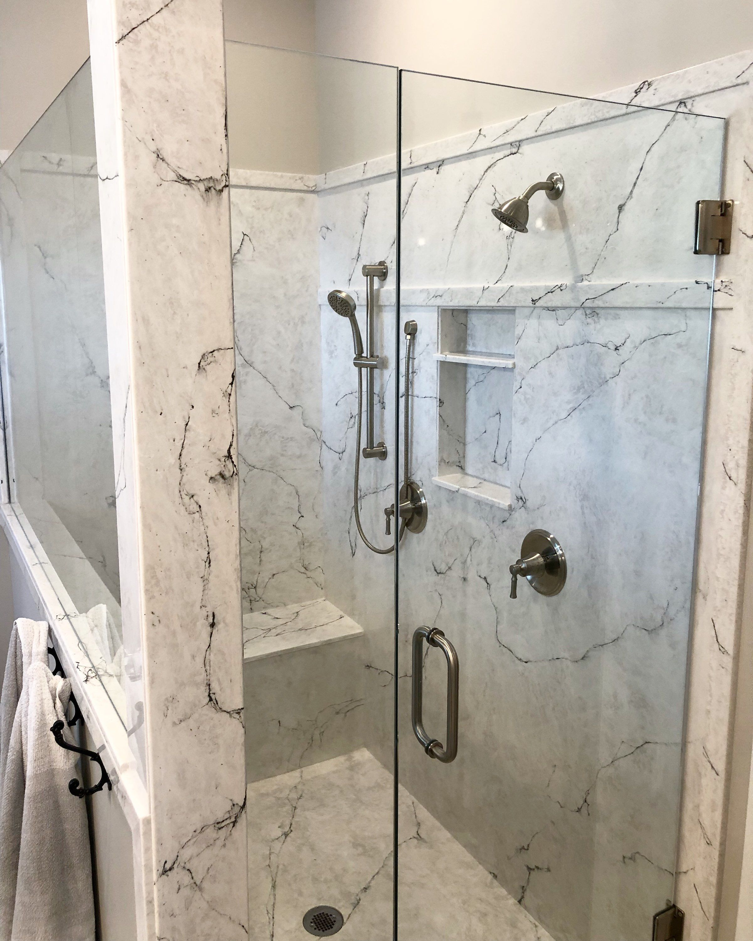Beautiful Shower Design In Easy To Clean No Sealing Required