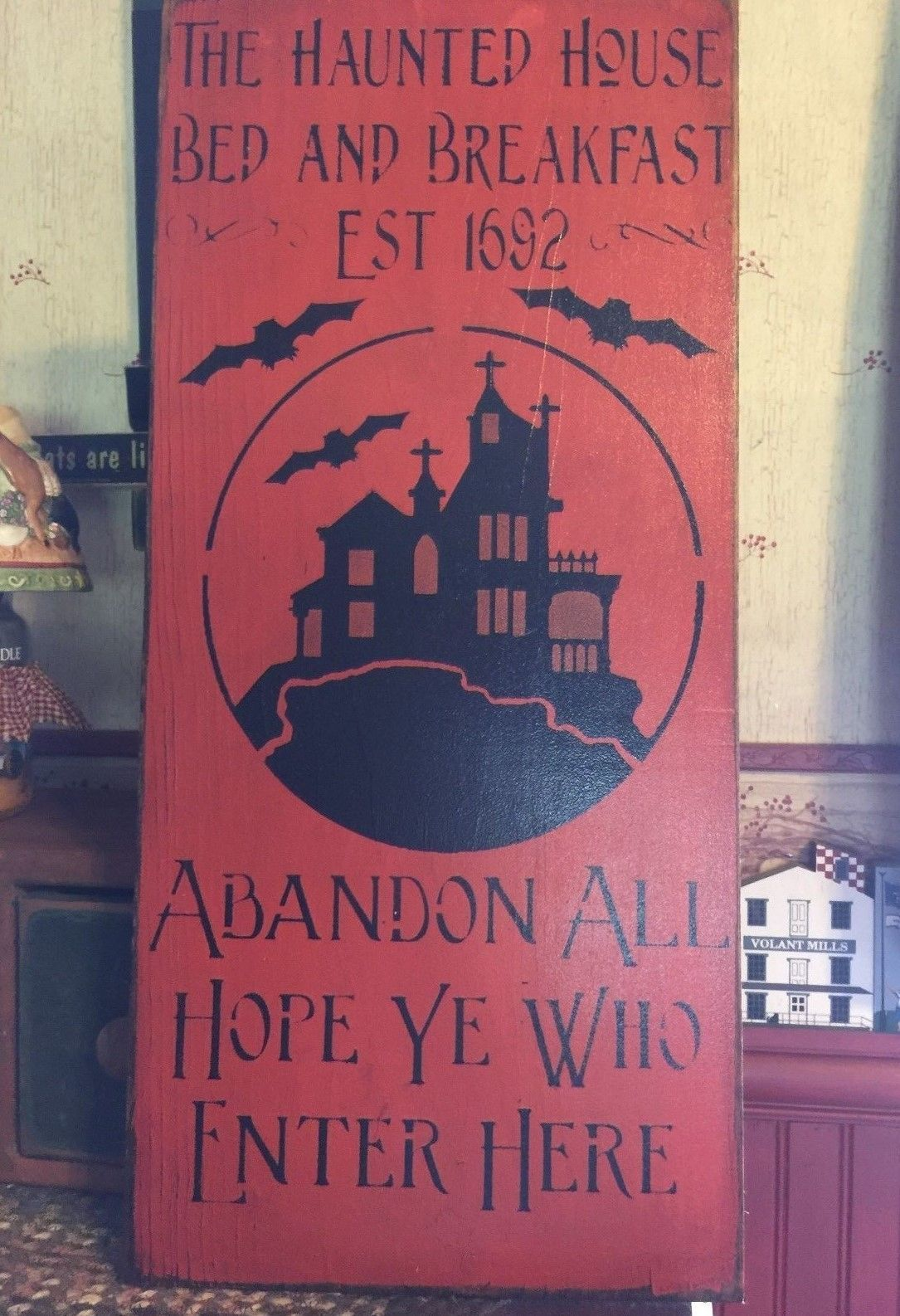 Wood Items 108866: Haunted House Bed And Breakfast Primitive Wood ...