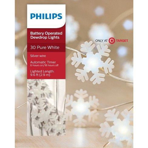 Philips 30ct Christmas Led Dewdrop Lights Frosted White