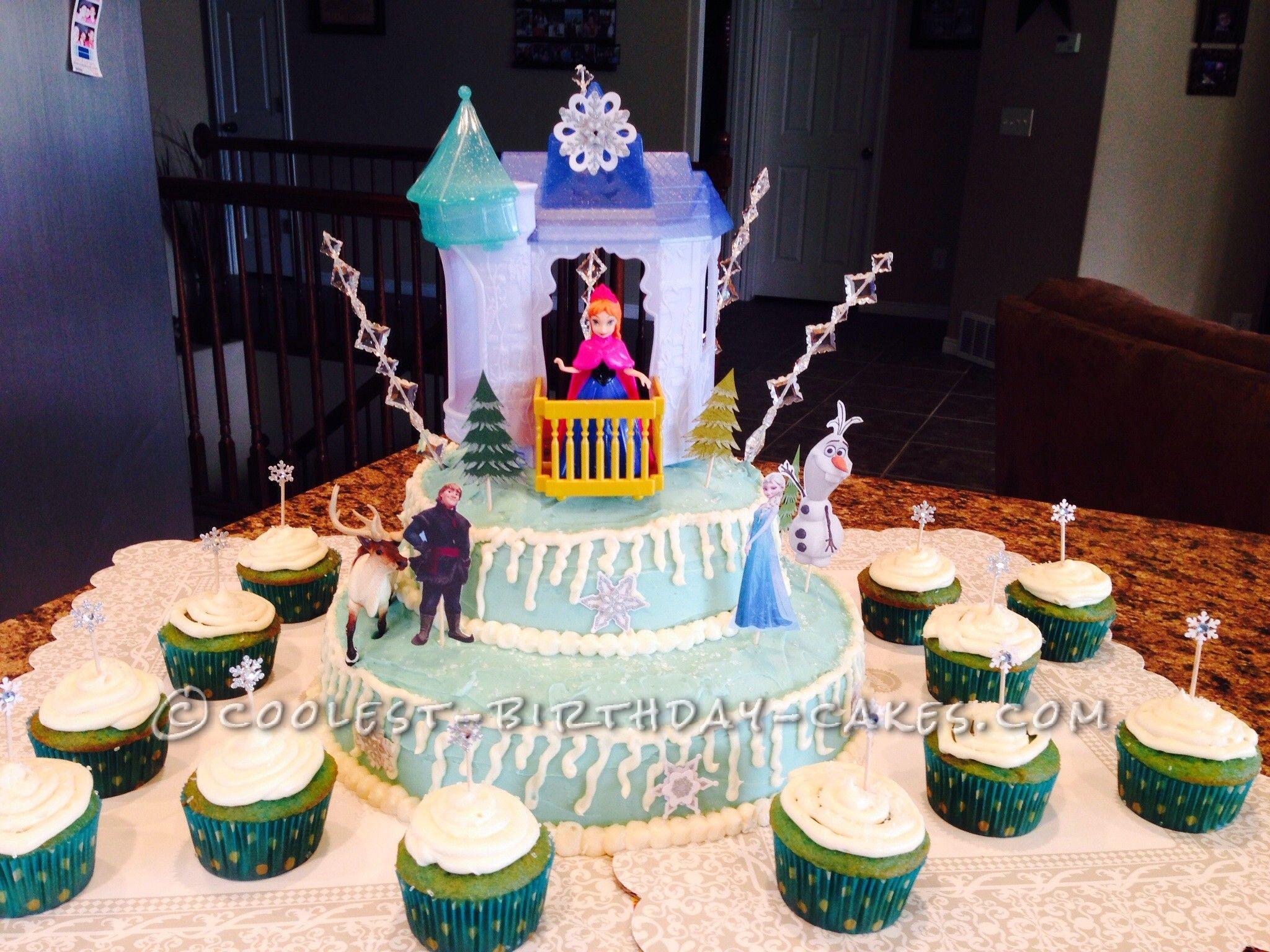 Cool Homemade Disney Frozen Birthday Cake Disney frozen birthday