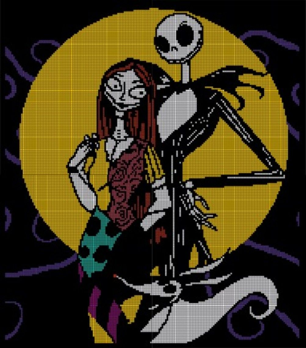 Nightmare Before Christmas Crochet Pattern Afghan Graph, $3.5 | Jack ...