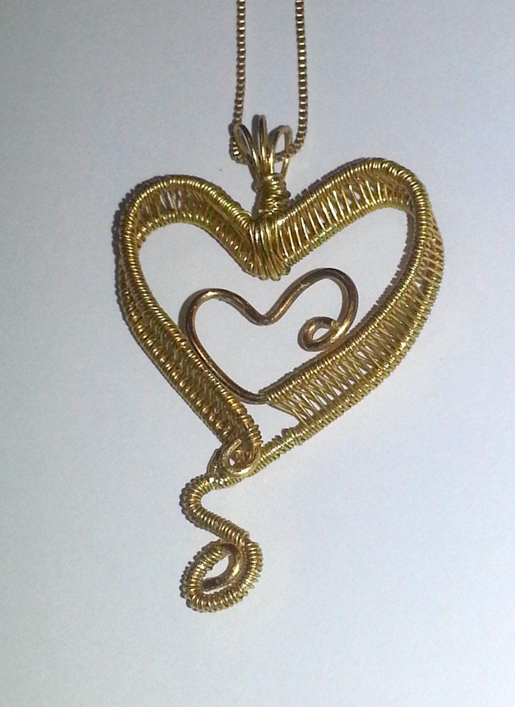 wire weaving jewelry | Handmade Wire Jewelry, Hand Woven Wire Love ...