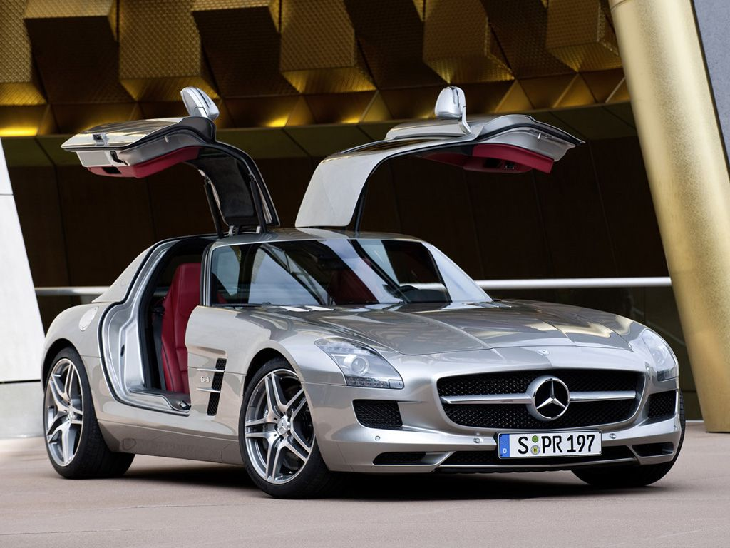 2011 Mercedes Benz Sls Amg Gullwing Front Side Door Open Picture