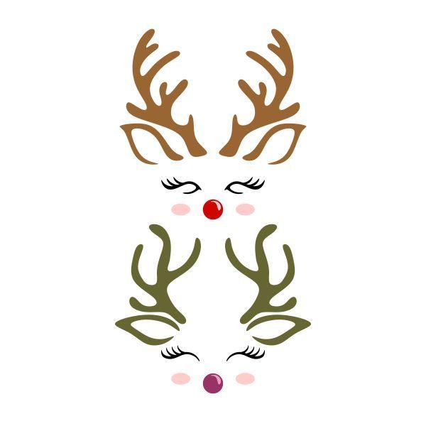 Reindeer Cute Face Cuttable Design Cut File Vector Clipart