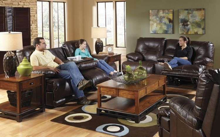 Mercury Power Reclining Sofa Set Godiva Catnapper Living Room