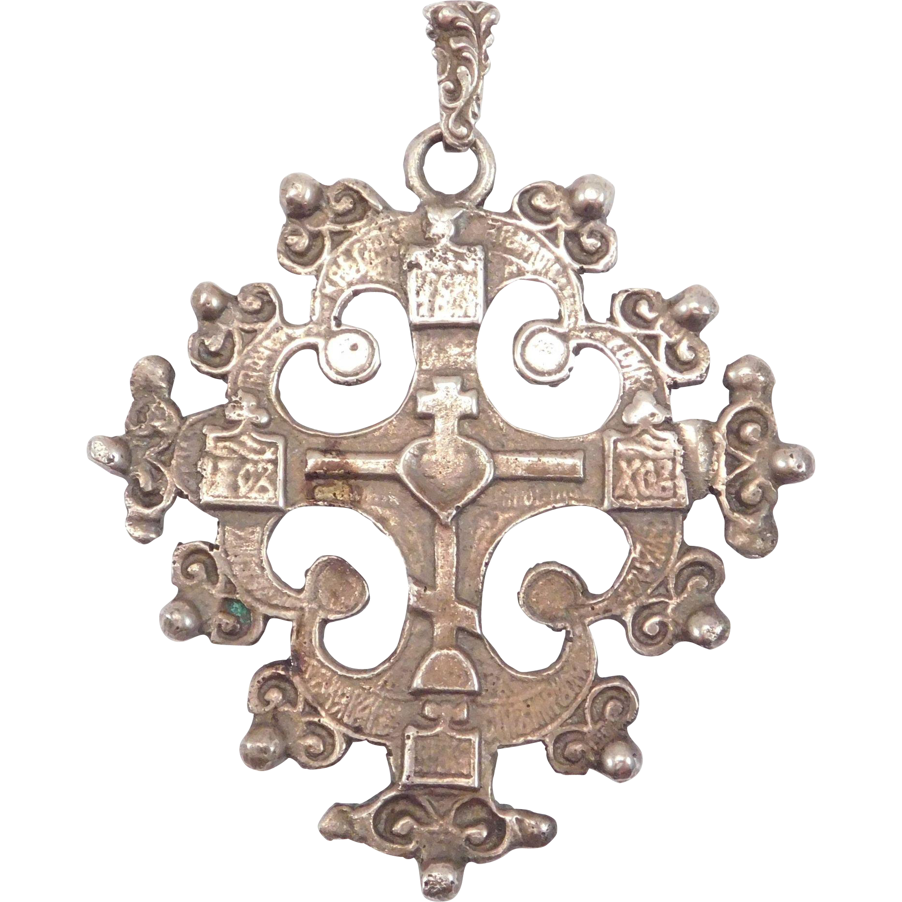 pendant tri cross colored three top yellow solid gold jerusalem pink base center layer creations white