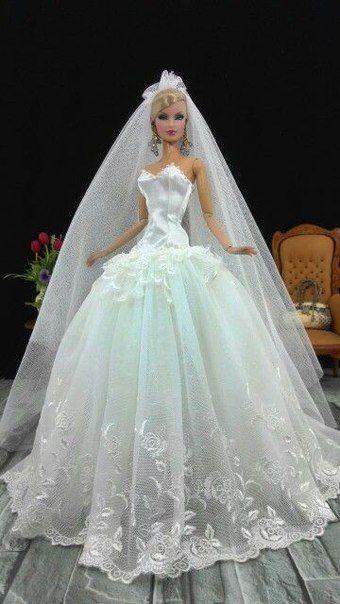 Шьем для Barbie Fashionistas и др кукол. #bridedolls