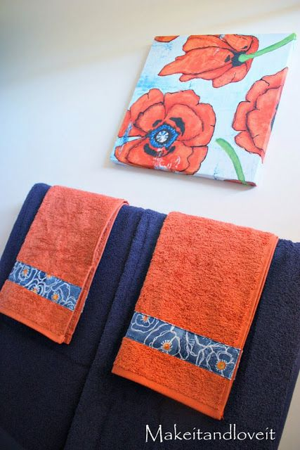 Decorate My Home Decorate Your Bathroom Towels DIY Projects - Orange patterned towels for small bathroom ideas