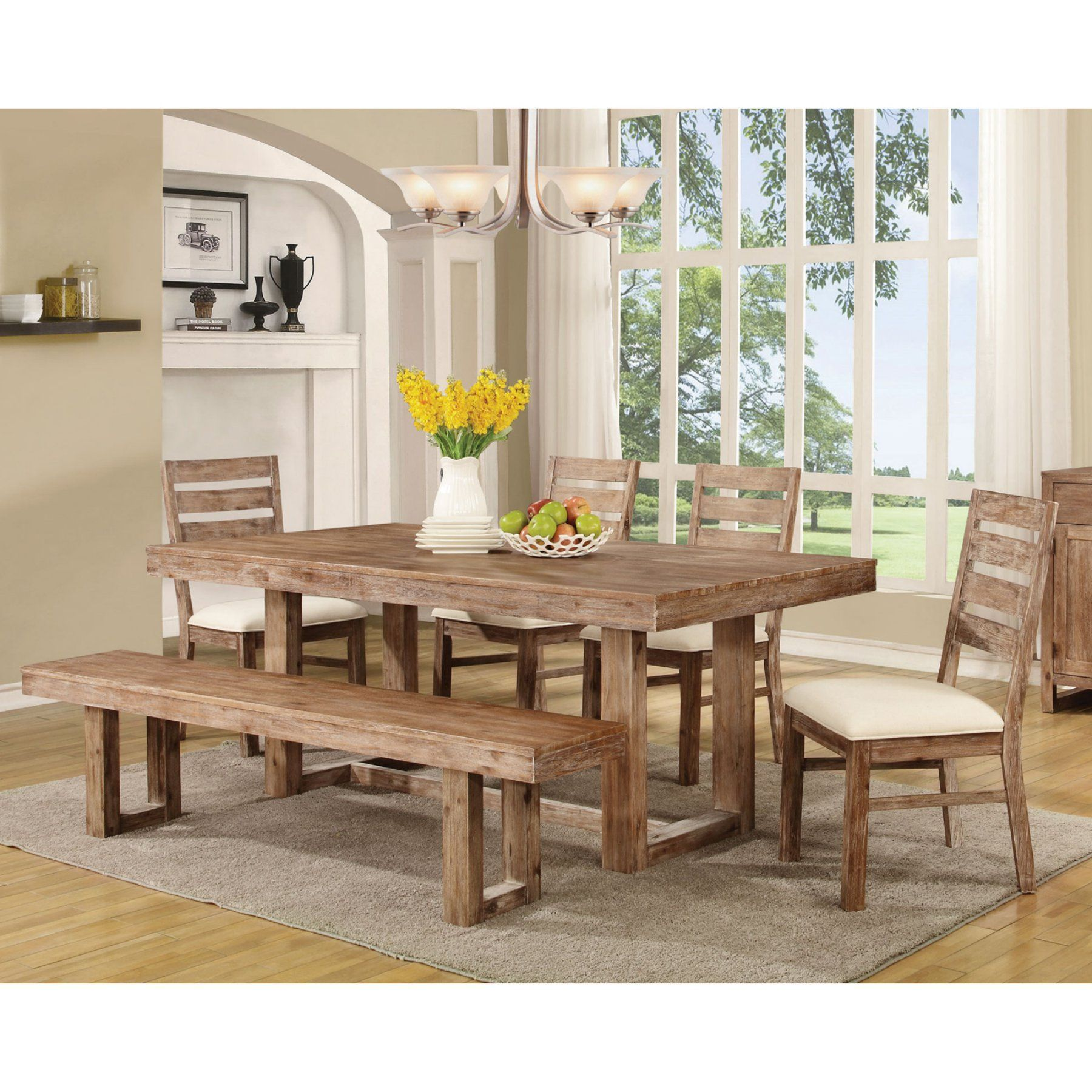 Coaster Furniture Coaster Elmwood 6 Piece Dining Table Set Pleasing Coaster Dining Room Furniture Design Inspiration