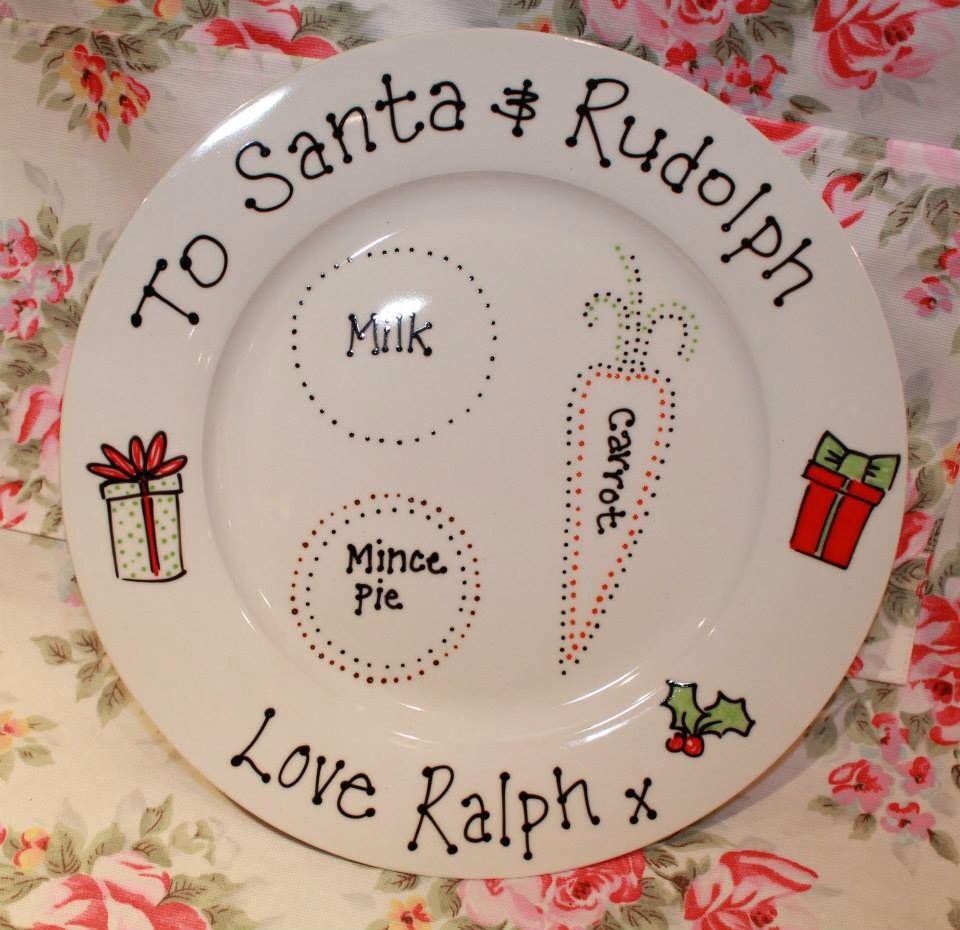 Santa Christmas Eve Mince Pie Plate - personalised www ...