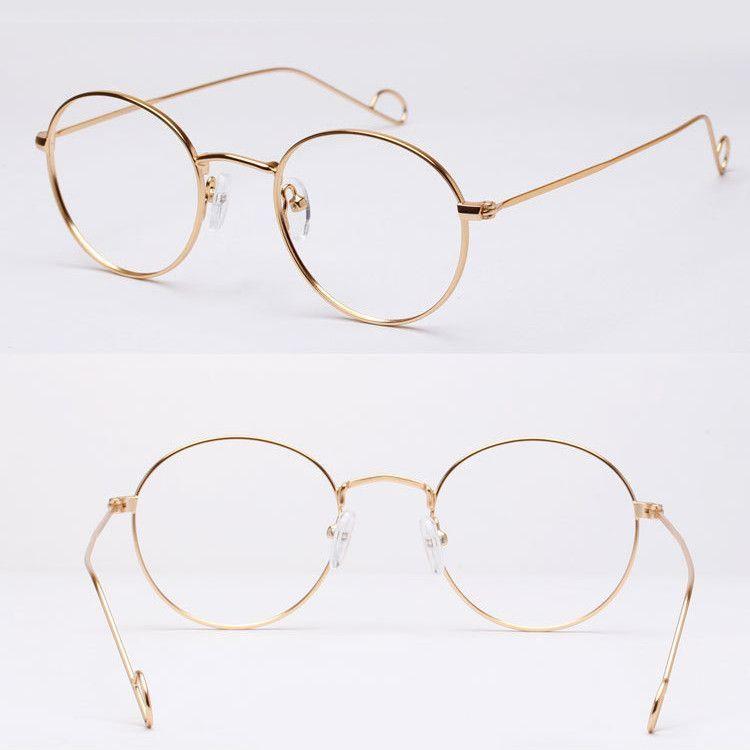 Aviator Circle Glasses frames only unisex vintage spectacle frame ...