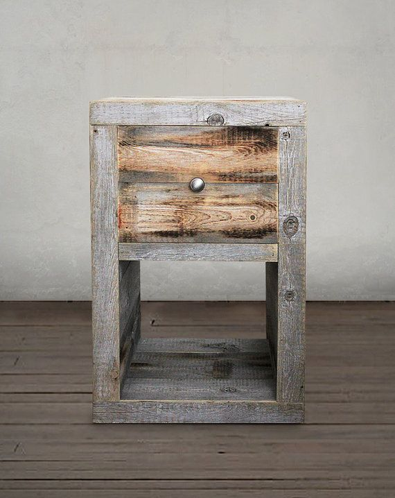 Reclaimed Wood Night Stand, End Table | Wood projects | Pinterest ...
