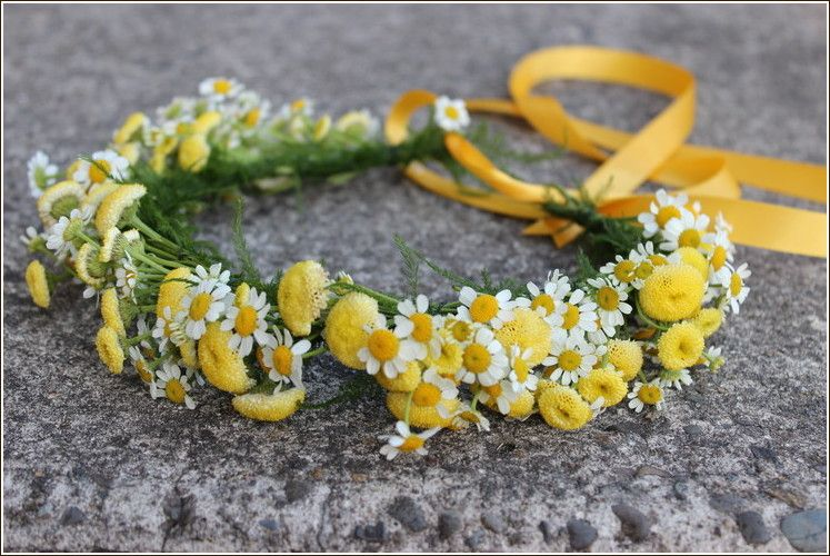 .daisy wildflower flower girl hair floral crown yellow white portland  oregon wedding florist http  77e6fe61613