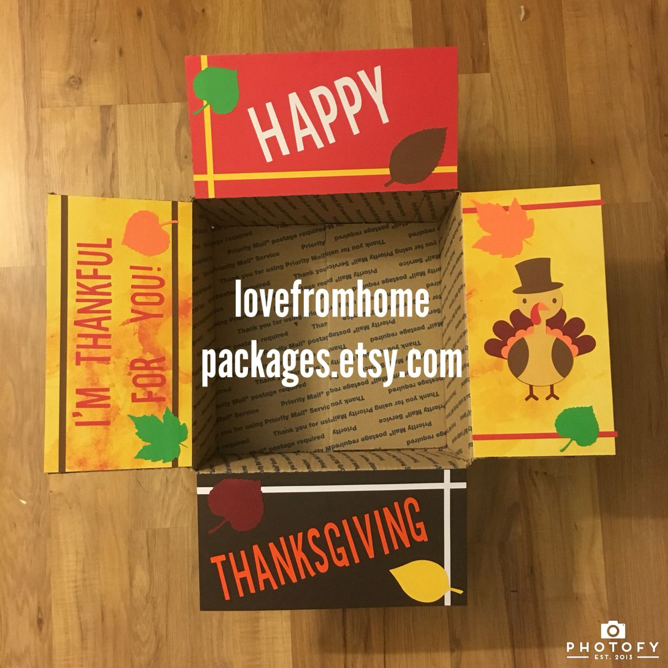 Thanksgiving Military Care Package. Deployment box. (With