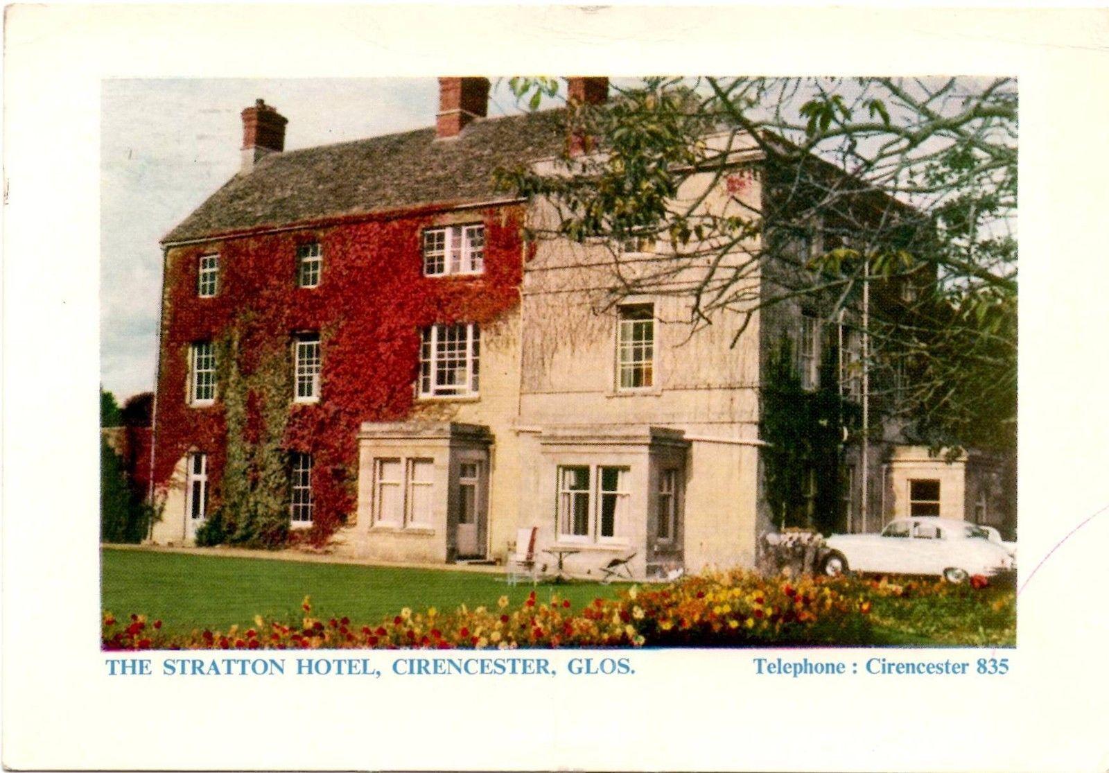 Stratton Hotel Cirencester Gloucestershire Postcard 1964 Ebay