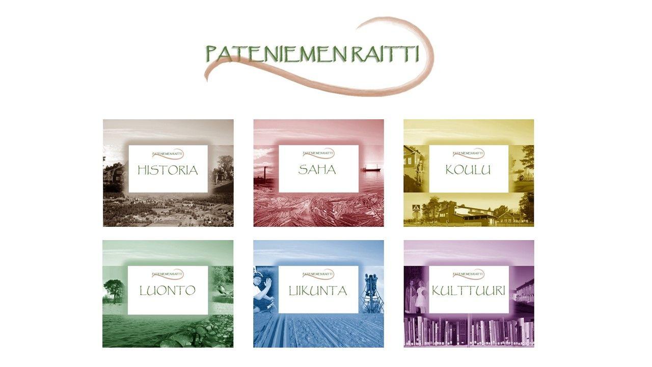 Suunnittelin visuaalisen ilmeen Pateniemen Raitti -projektiin, joka tarjoaa mahdollisuuden tutustua paikalliseen historiaan, luontoon, kulttuuriin ja muuhun elämään mm. kuvien, videoiden ja QR-koodien kautta. Haen työtä sisällöntuotannon ja kirjoittamisen parista - otahan yhteyttä! maariainen@luukku.com