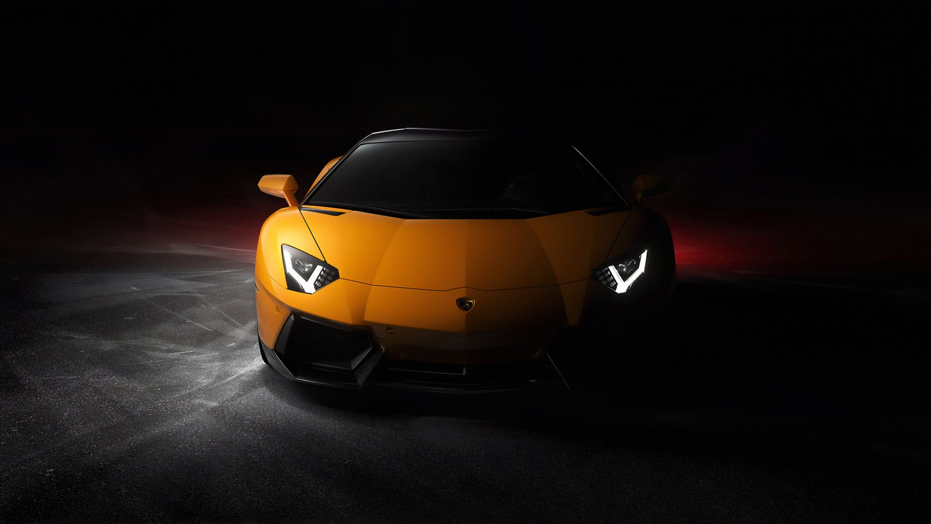 1920x1080 Yellow Lamborghini Aventador, front wallpaper