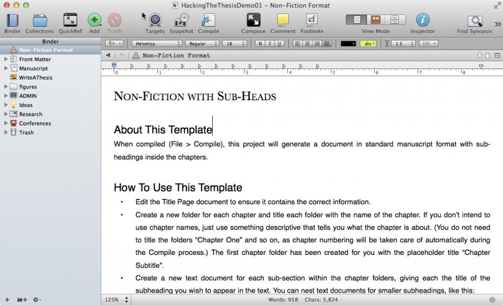 Scrivener Hacking The Thesi Dissertation Writing Template