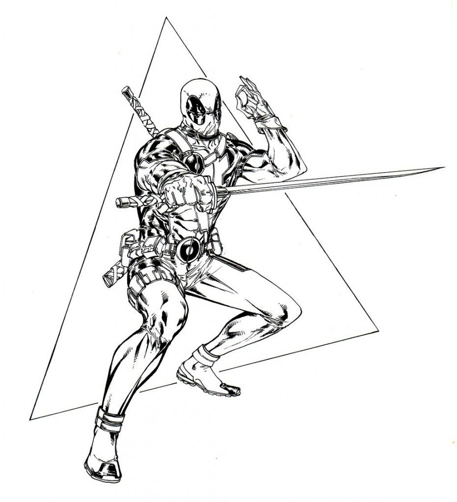 Deadpool Coloring Pages | silhouette | Pinterest