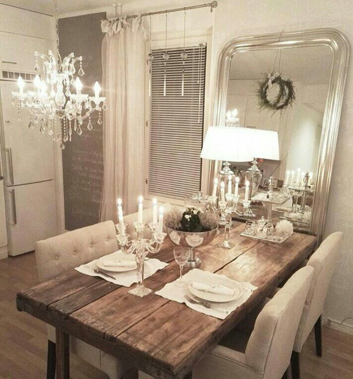 Coastal Dining Room Theme Decor For A Maximum Calmness And Peace · Dinning Table  RusticMirror ...