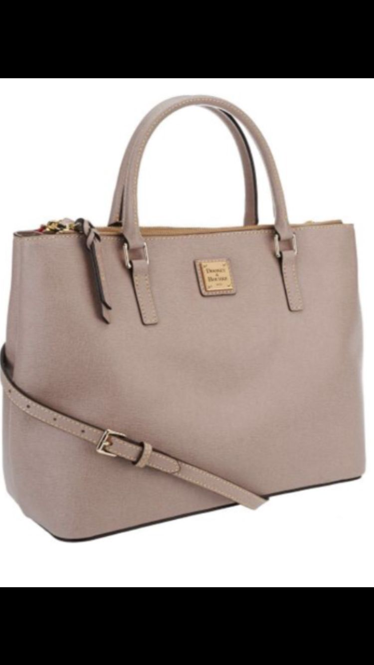 Dooney And Bourke Saffiano Leather Willa Satchel In Oyster 3