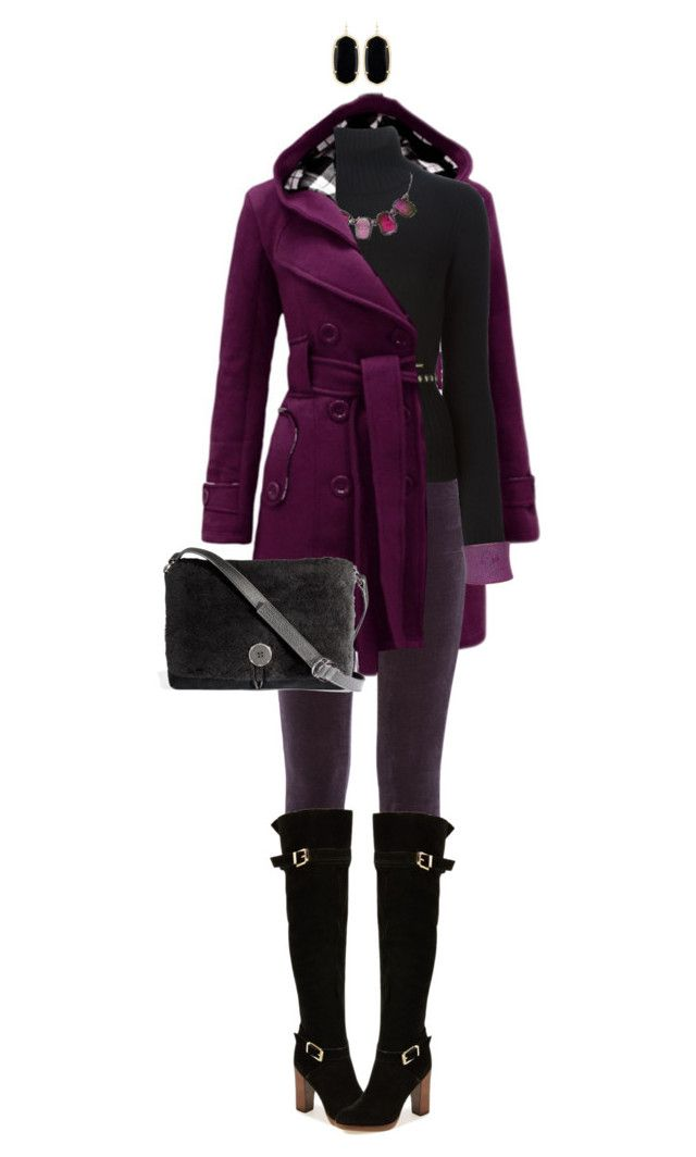 """""""Purple"""" by ittie-kittie ❤ liked on Polyvore featuring J Brand, Report, Dsquared2, UGG Australia, Kendra Scott, UNEARTHED and purple"""