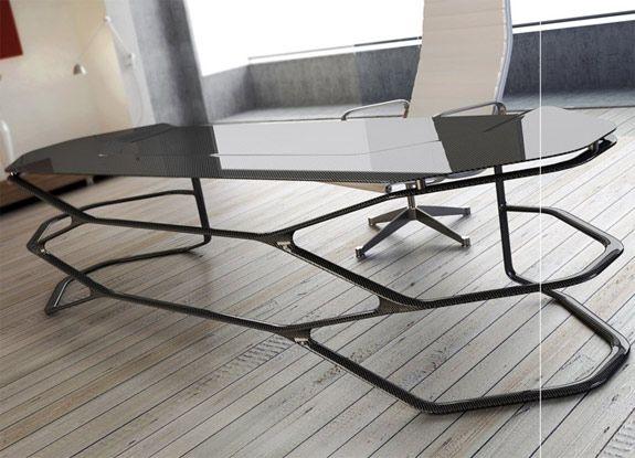 Can Yalmans Carbon Fiber Hexa Desk  Desks Fiber and Carbon fiber