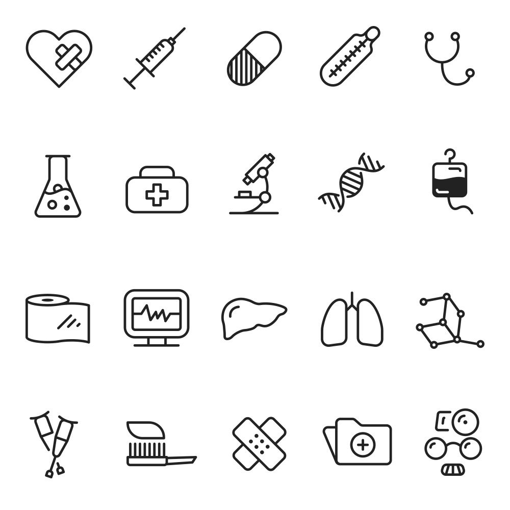 30 Svg Icons Medicine And Health Icon Pack Bullet Journal Art Mini Drawings Doodle Art Journals