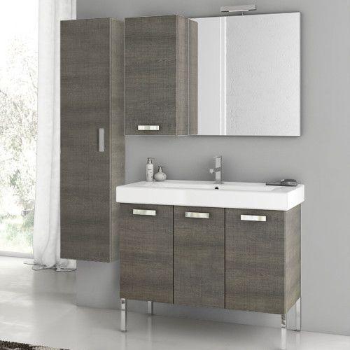 Cubical 37 4 Single Bathroom Vanity Set With Mirror Single