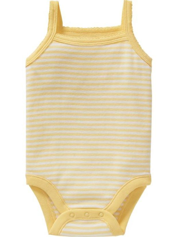 Old Navy Patterned Tank Bodysuits For Baby