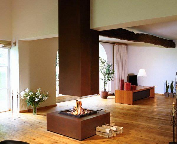 offene kamine quadratisches design STOVE Pinterest Offener - offene feuerstelle wohnzimmer