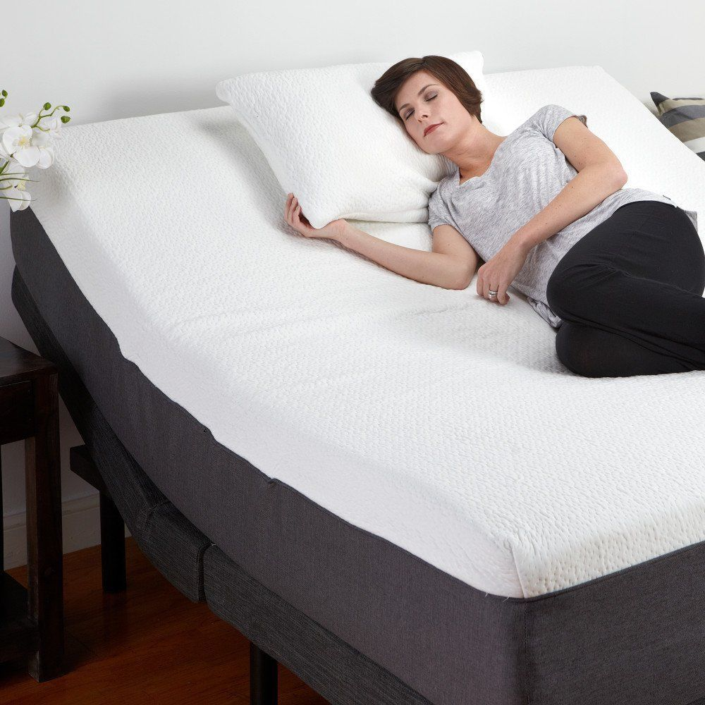 Details about Adjustable Queen Size Bed Base Mattress Set