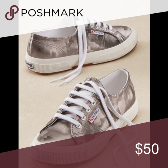 Anthropologie silver camo sneakers
