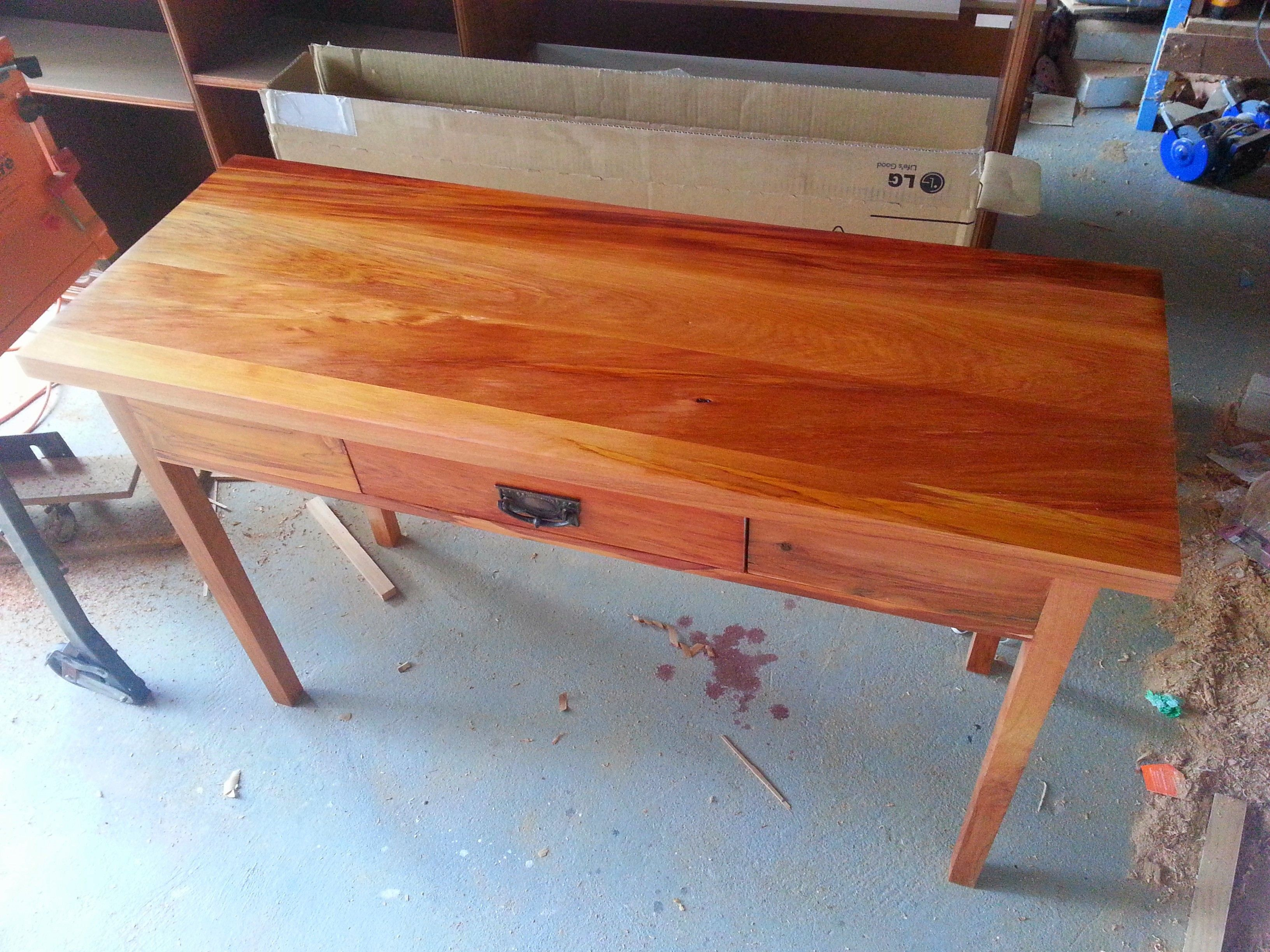 A New Zealand Rimu Hall Table Recycled Out Of Dining The Draw Is