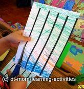 Fine motor skills - scissor cutting (OT Mom Learning Activities)