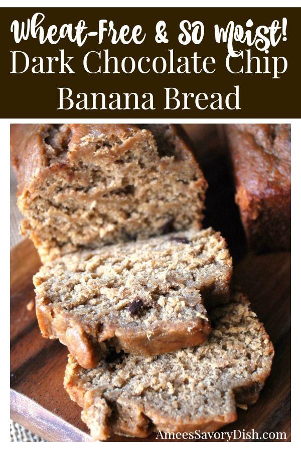 Dark Chocolate Chip Gluten-Free Banana Bread- Amee's Savory Dish