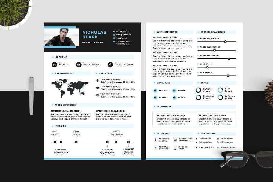 Resume Cv Stark Infographic Resume Cover Letter For Resume Resume Words Skills