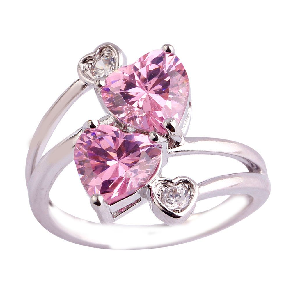 Empsoul 925 Sterling Silver Natural Chic Filled 2.5ct Pink & White ...
