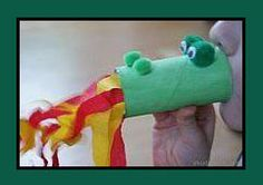 dragon // WITH A ROLL OF TOILET PAPER, CREPE PAPER, POMPOMS AND EYES TO GLUE ...