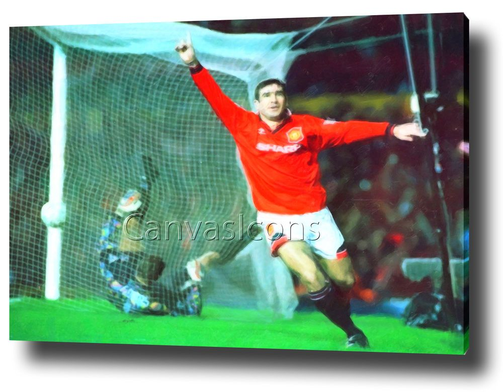 ERIC CANTONA CANVAS PRINT POSTER PHOTO WALL ART MAN UTD MANCHESTER UNITED & Eric cantona