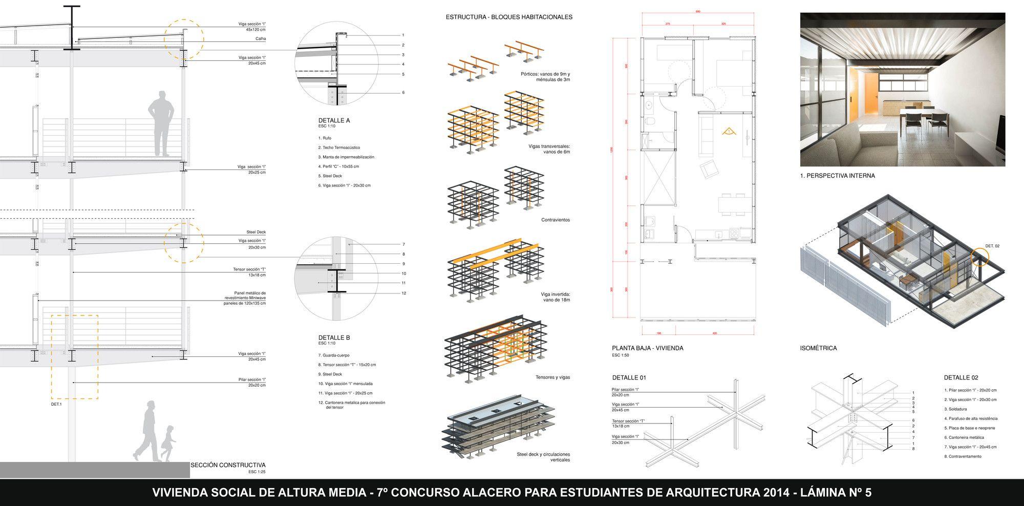 Brasil, Primer Lugar en VII Concurso Alacero de diseño en acero 2014,Lámina #5. Image © Alacero