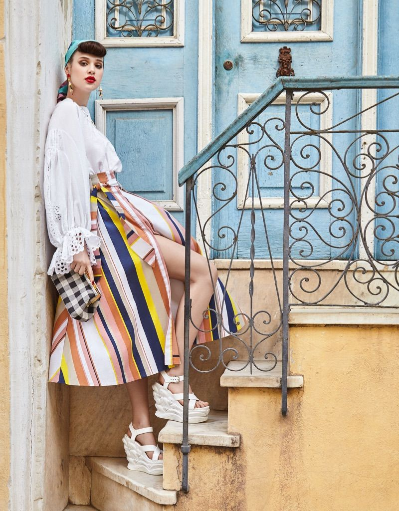 Anais Pouliot Models Colorful Styles in Cuba for Vogue Taiwan