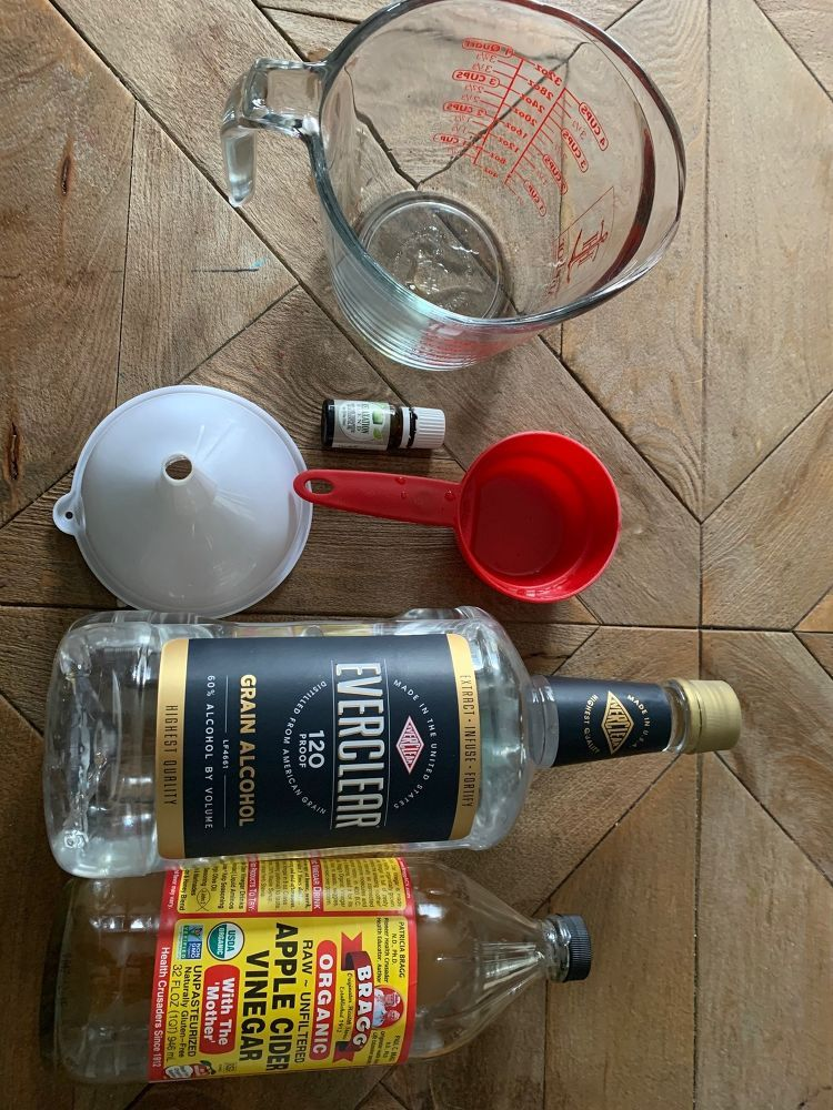 Diy Disinfectant Spray With Everclear And Vinegar Disinfectant
