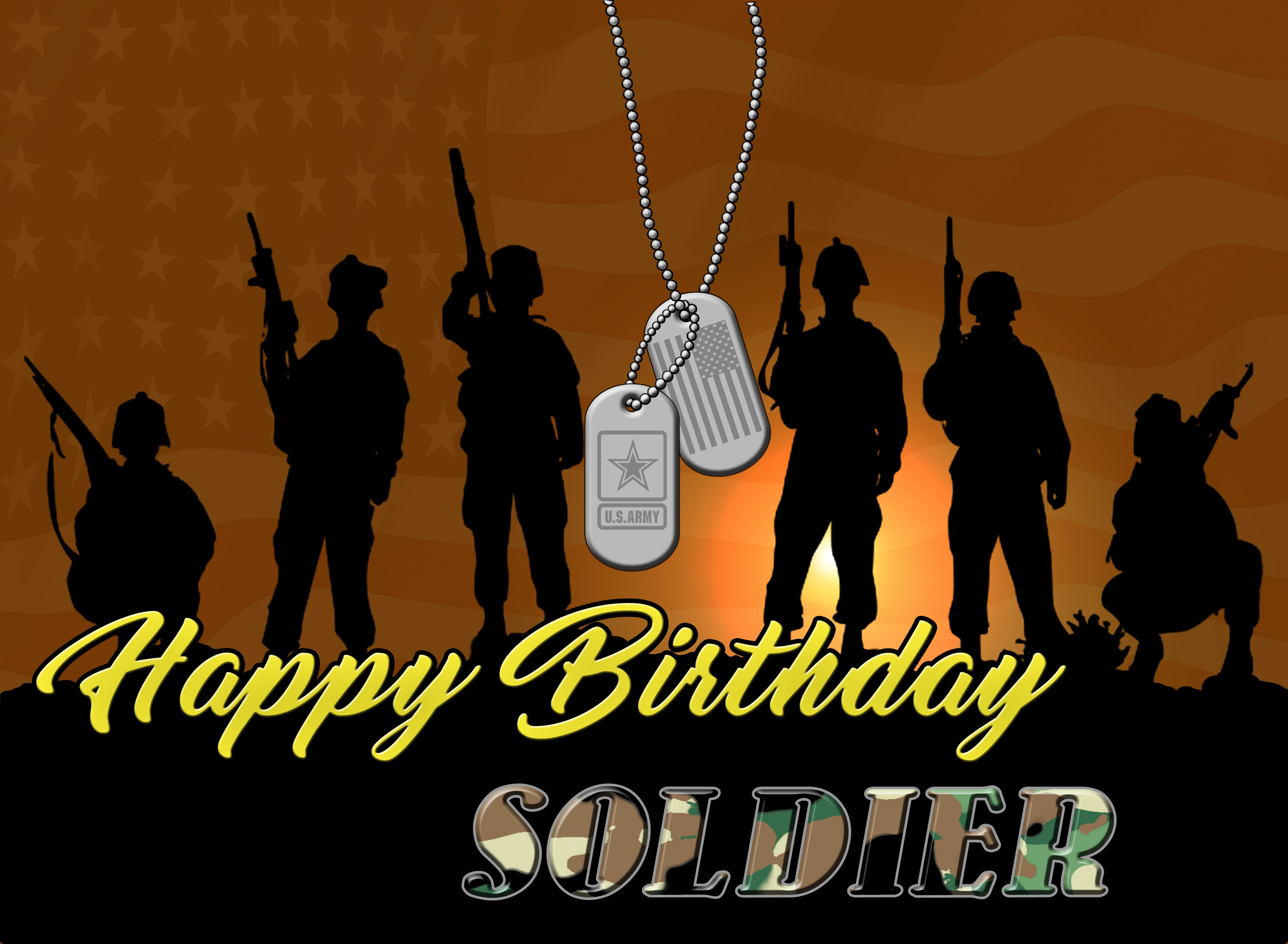 United States Army, US ARMY, Happy Birthday, Soldier, Post Card HD ...