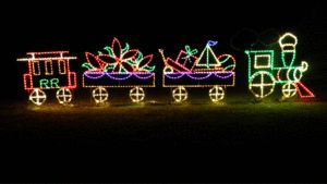 lg animated xmas train with cars outdoor led lighted decoration steel wireframe ebay