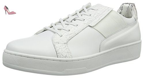 Calvin Klein Ilene 2 Heathered Knit/Solid Kni, Sneakers Basses Femme, (Cocoon/Gold/Ivory), 38 EU