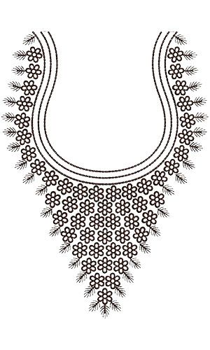 Traditional Neck Embroidery Design 15761 My Board Pinterest