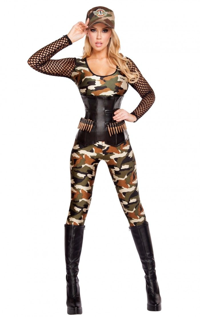 Roxanni 4592 4pc Lusty Lieutenant by Roma Halloween Costumes Women - cute easy halloween costume ideas